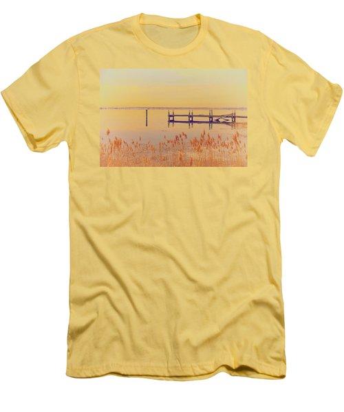 Coastal Winter Men's T-Shirt (Slim Fit) by Karol Livote