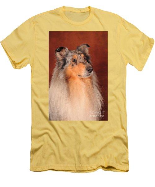 Collie Portrait Men's T-Shirt (Slim Fit) by Randi Grace Nilsberg