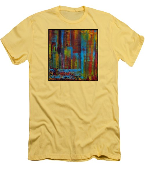 Color Burst Men's T-Shirt (Slim Fit) by Katia Aho