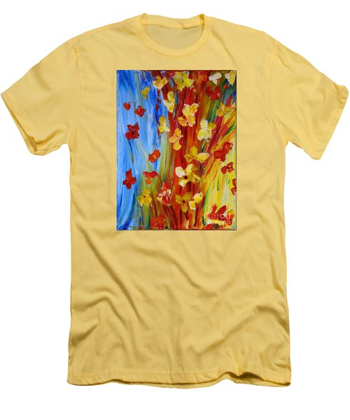 Colorful World Men's T-Shirt (Athletic Fit)