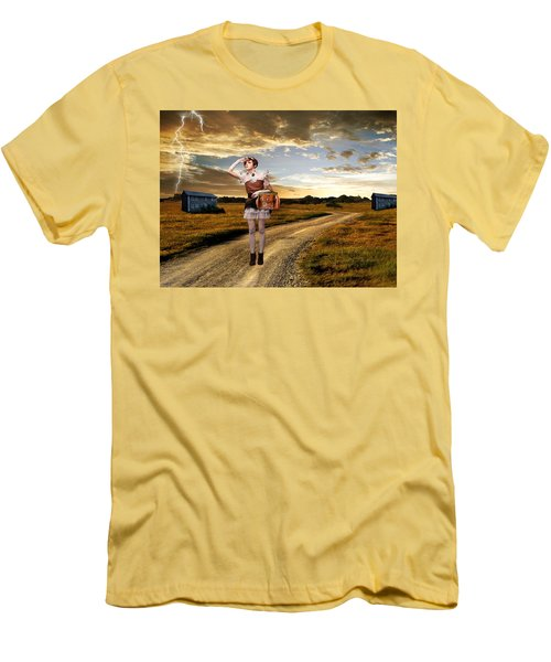 Men's T-Shirt (Slim Fit) featuring the photograph Coming Home by Ester  Rogers