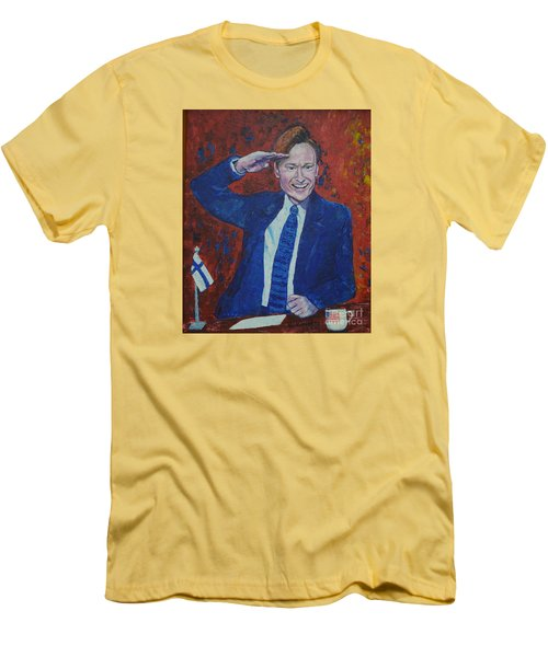 Conan O'brien Flagging Finland Men's T-Shirt (Athletic Fit)