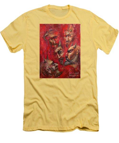 Conspiracy Men's T-Shirt (Slim Fit) by Arturas Slapsys