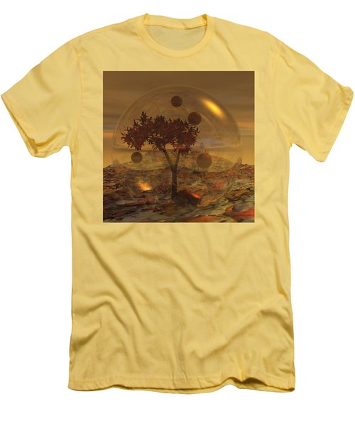 Copper Terrarium Men's T-Shirt (Slim Fit) by Judi Suni Hall