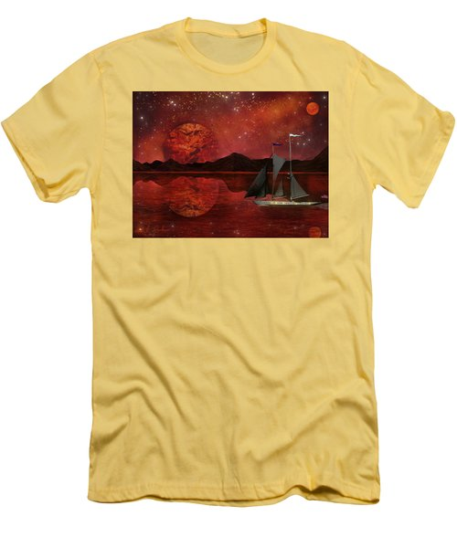 Cosmic Ocean Men's T-Shirt (Slim Fit) by Michael Rucker
