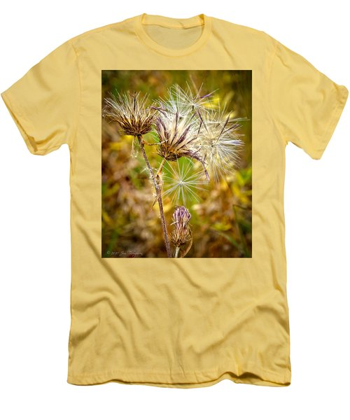 Men's T-Shirt (Slim Fit) featuring the photograph Cotten Grass by Jim Thompson