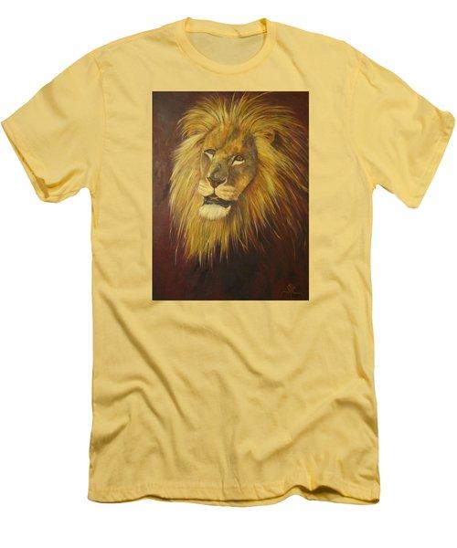 Crown Of Courage,lion Men's T-Shirt (Athletic Fit)