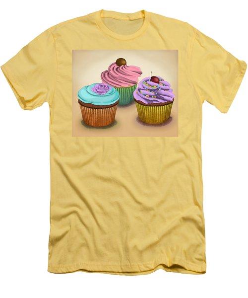 Cupcakes Men's T-Shirt (Athletic Fit)