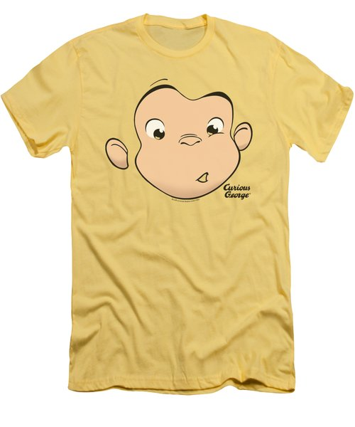 Curious George - George Face Men's T-Shirt (Slim Fit) by Brand A