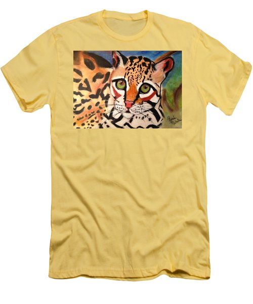 Curious Ocelot Men's T-Shirt (Athletic Fit)