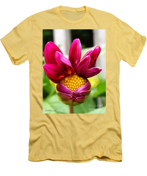Dahlia From The Showpiece Mix Men's T-Shirt (Slim Fit) by J McCombie