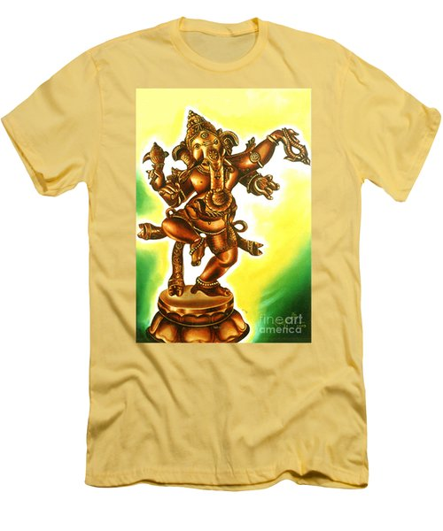Dancing Vinayaga Men's T-Shirt (Athletic Fit)