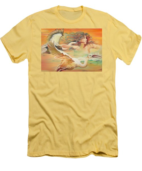 Dancing With Birds Men's T-Shirt (Athletic Fit)