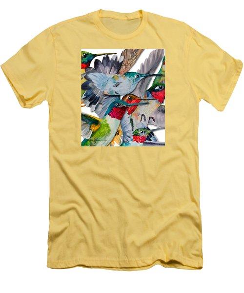 Da133 Hummingbirds By Daniel Adams Men's T-Shirt (Athletic Fit)