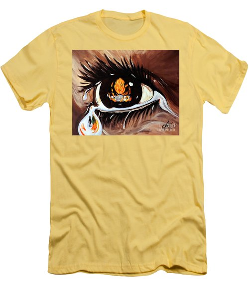 Men's T-Shirt (Slim Fit) featuring the painting Dark Sorrow  by Jackie Carpenter
