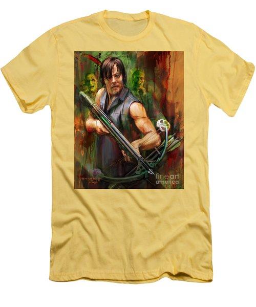 Daryl Dixon Walker Killer Men's T-Shirt (Slim Fit) by Rob Corsetti