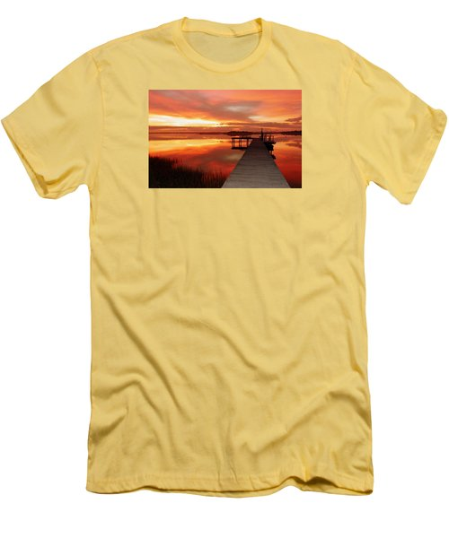 Dawn Of New Year Men's T-Shirt (Slim Fit) by Karen Wiles