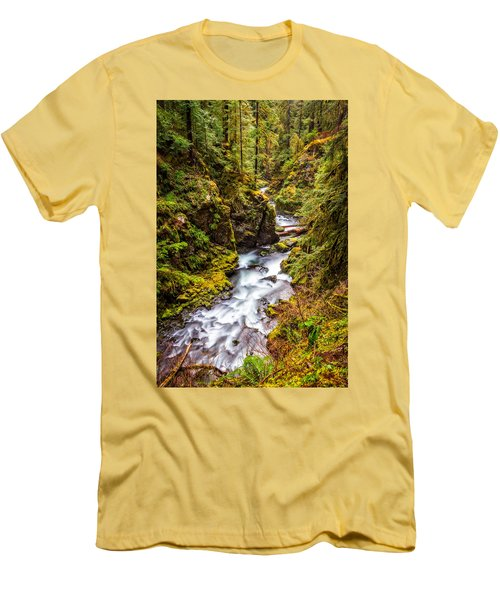 Deep In The Forest Men's T-Shirt (Slim Fit) by Ken Stanback