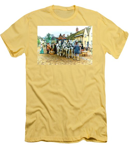 Departing Cranford Men's T-Shirt (Slim Fit) by Paul Gulliver