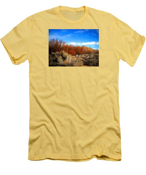 Men's T-Shirt (Slim Fit) featuring the photograph Desert Colors by Marilyn Diaz