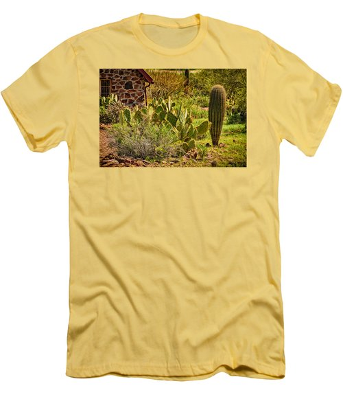 Men's T-Shirt (Slim Fit) featuring the photograph Desert Dream by Mark Myhaver