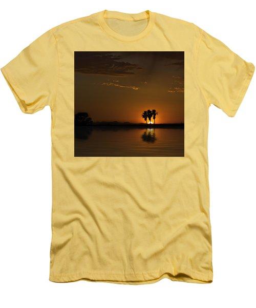 Desert Sunset Men's T-Shirt (Slim Fit) by Lynn Geoffroy