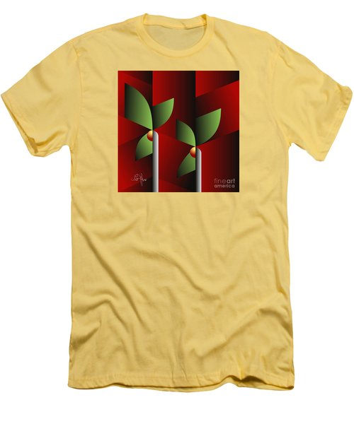 Digital Garden Men's T-Shirt (Slim Fit) by Leo Symon