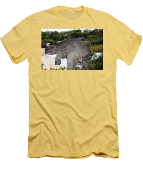 Men's T-Shirt (Slim Fit) featuring the photograph Diprotodon by Miroslava Jurcik