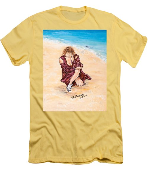 Men's T-Shirt (Slim Fit) featuring the painting Disperazione by Loredana Messina