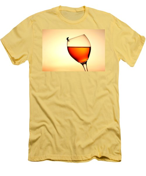 Diving In Red Wine Little People On Food Men's T-Shirt (Athletic Fit)
