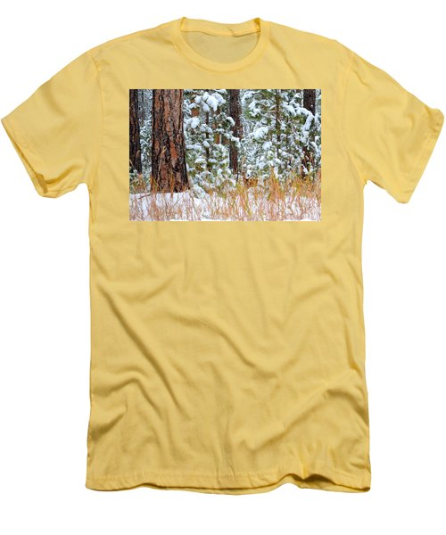 Men's T-Shirt (Slim Fit) featuring the photograph Do You See Me by Clarice  Lakota