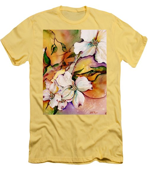 Dogwood In Spring Colors Men's T-Shirt (Athletic Fit)