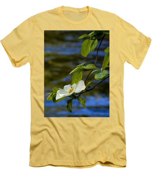 Dogwood On The Merced Men's T-Shirt (Slim Fit) by Bill Gallagher