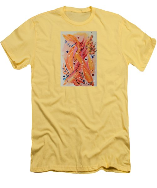 Dolphins And Fish Men's T-Shirt (Athletic Fit)