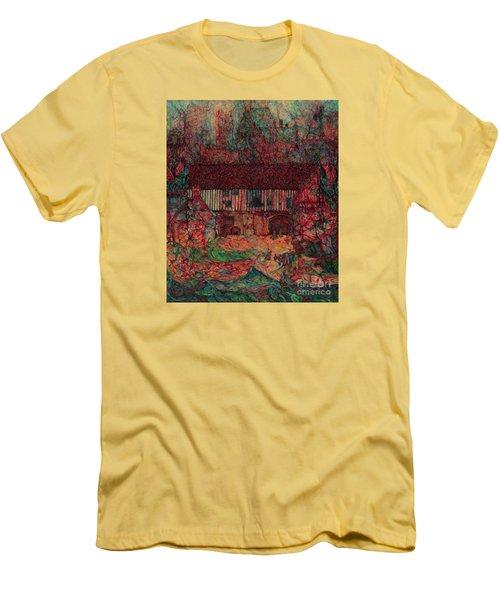Dragon Hall Men's T-Shirt (Slim Fit) by Anna Yurasovsky