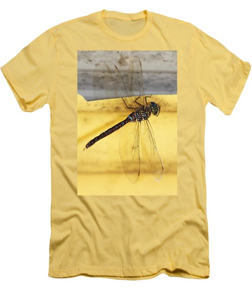 Men's T-Shirt (Slim Fit) featuring the photograph Dragonfly Web by Melanie Lankford Photography