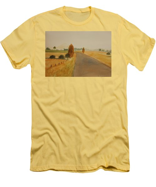 Men's T-Shirt (Slim Fit) featuring the painting Dungog Area Nsw Australia by Tim Mullaney