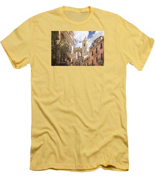Duomo Bell Tower Of Manarola Men's T-Shirt (Athletic Fit)
