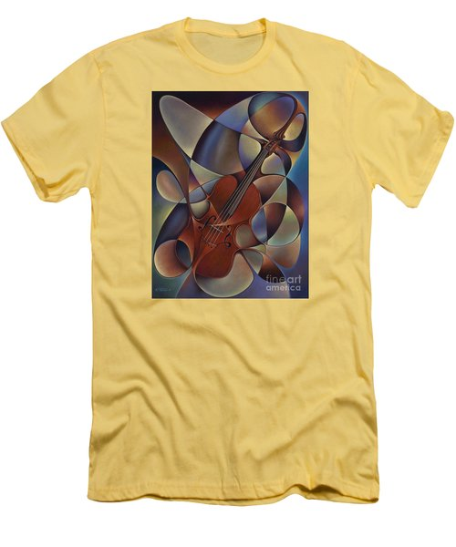 Dynamic Violin Men's T-Shirt (Athletic Fit)