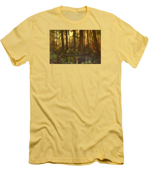 Early Morning Sun On Cannock Chase Men's T-Shirt (Slim Fit) by Jean Walker