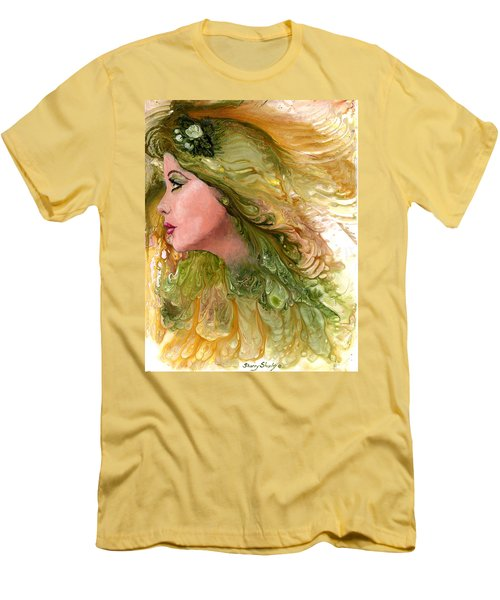 Earth Maiden Men's T-Shirt (Slim Fit) by Sherry Shipley