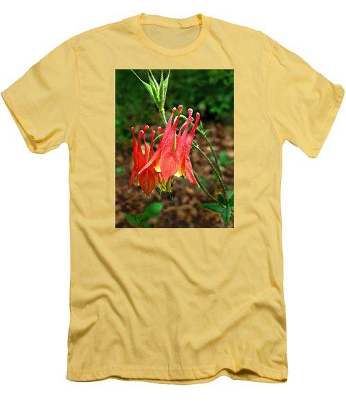 Wild Eastern Columbine Men's T-Shirt (Slim Fit)