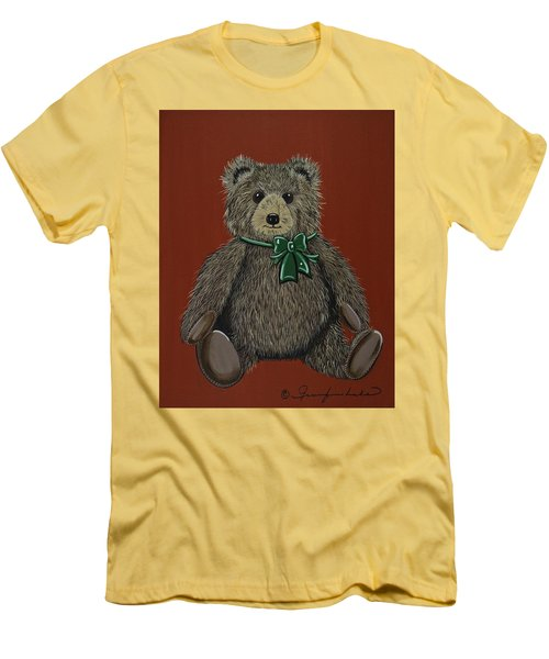 Men's T-Shirt (Slim Fit) featuring the painting Easton's Teddy by Jennifer Lake
