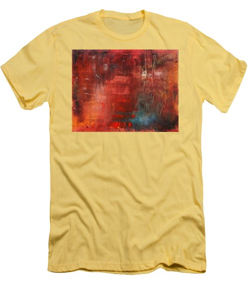 Men's T-Shirt (Slim Fit) featuring the painting Egotistical Bypass by Jason Williamson