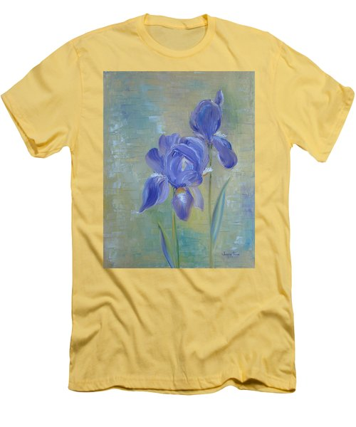 Elizabeth's Irises Men's T-Shirt (Slim Fit) by Judith Rhue