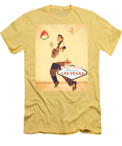 Elvis On Tv Men's T-Shirt (Athletic Fit)