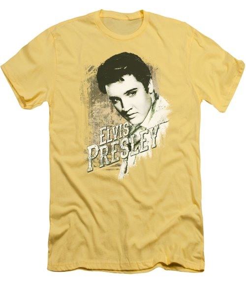 Elvis - Rugged Elvis Men's T-Shirt (Slim Fit) by Brand A