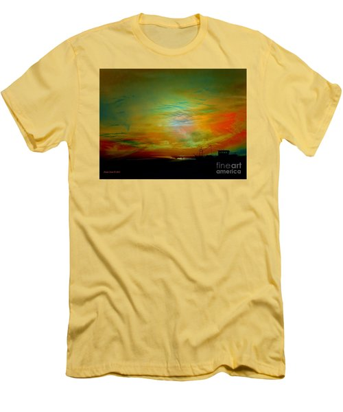 Men's T-Shirt (Slim Fit) featuring the photograph End Of The Fishing Day by Annie Zeno