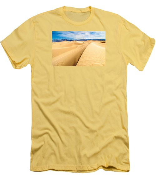 Endless Dunes - Panoramic View Of Sand Dunes In Death Valley National Park Men's T-Shirt (Athletic Fit)