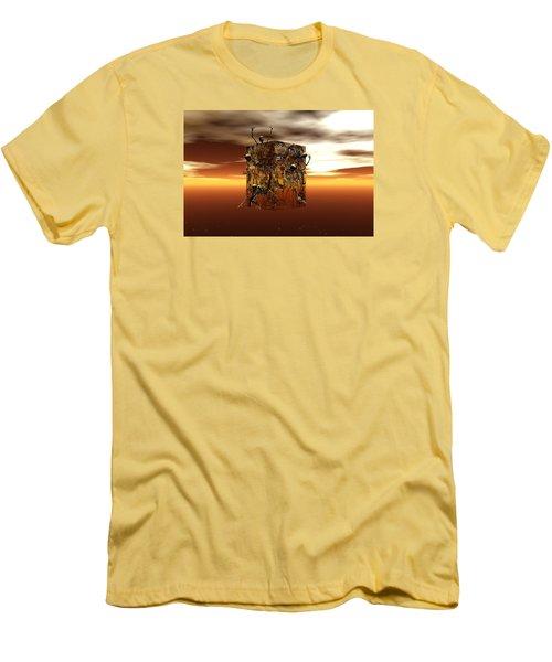 Men's T-Shirt (Slim Fit) featuring the digital art Escape Attempt by Claude McCoy